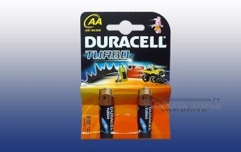 Элемент питания Duracell  MN1500 TURBO с индикатором AA BL2 Элемент питания Duracell  MN1500 TURBO BL2